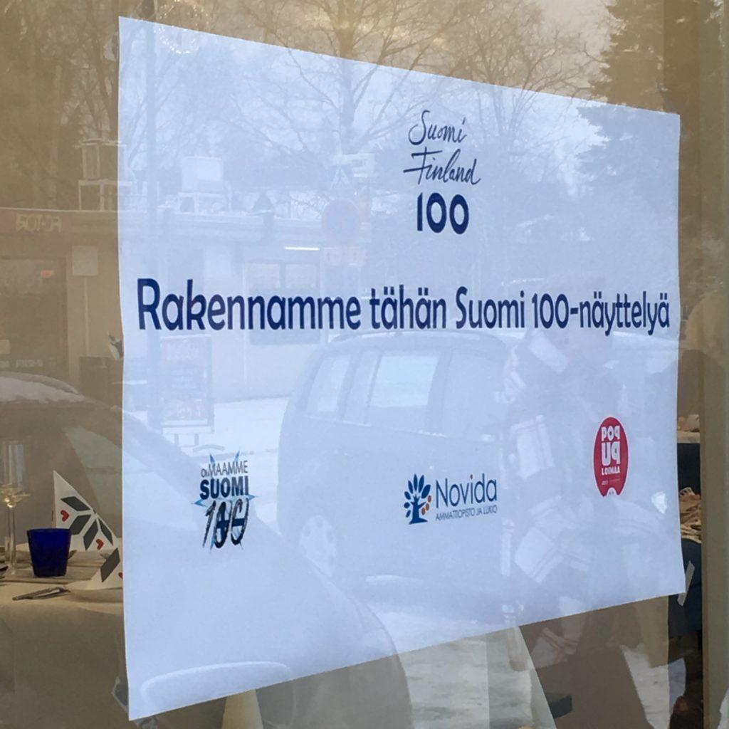 Suomi 100 -näyttely.