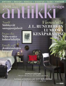 Antiikki&Design -lehden numerossa 05/2020 kerrottiin Iltamaan ryijyistä ja Taito-palkinnosta.